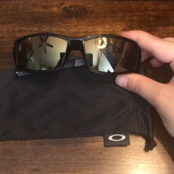 Oakley Other - Men's Black Oakley Glasses Bronze Mirrored Lenses